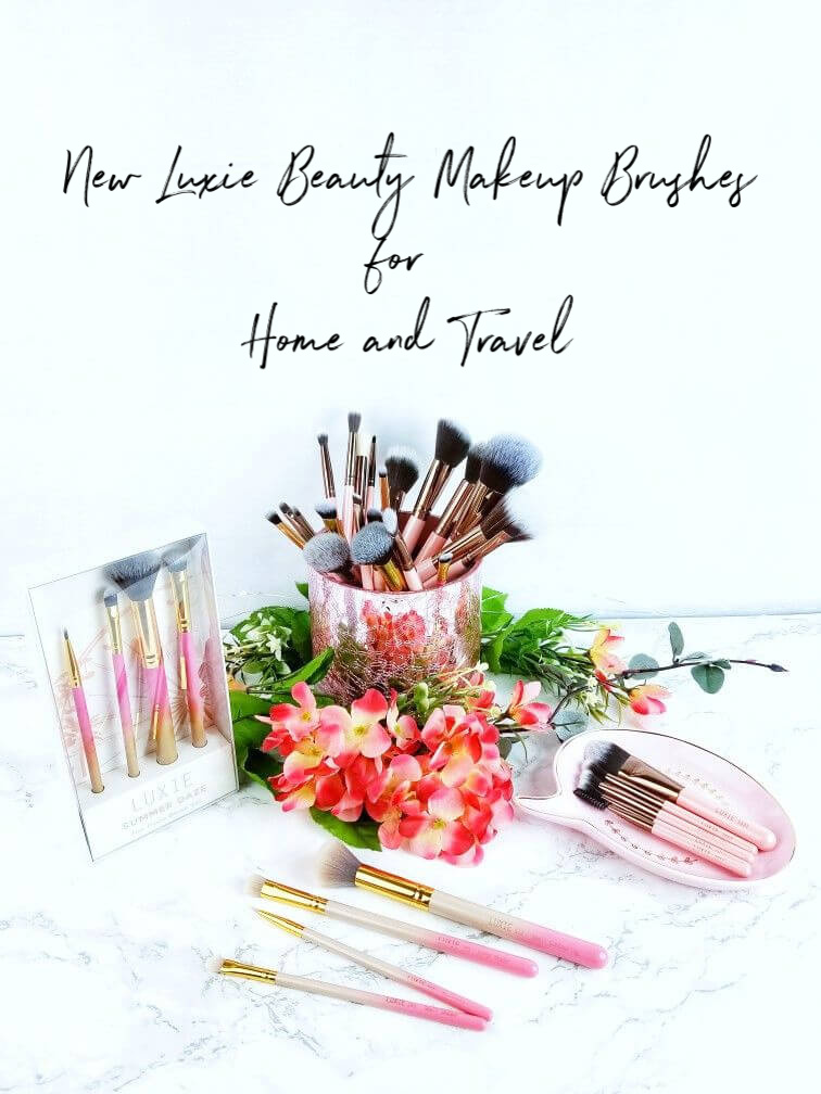 New Luxie Beauty Makeup Brushes for Home and Travel | And a Giveaway!