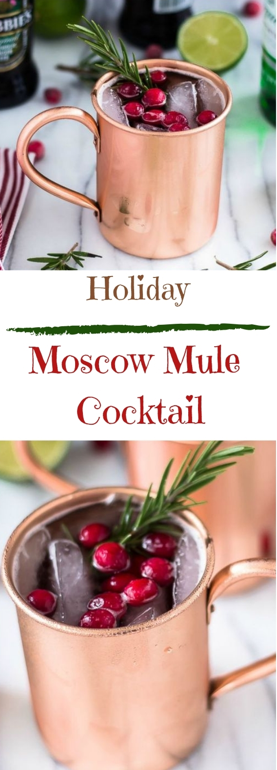 Holiday Moscow Mule #christmas #drink