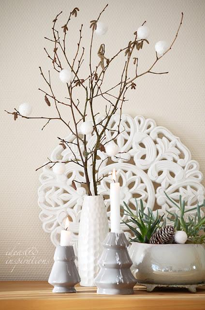Wie Du eine Winterdeko in Weiß ganz einfach selber basteln kannst