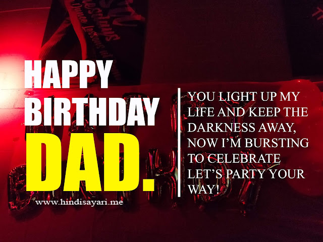 image for Birthday Wishes for Dady in Hindi
