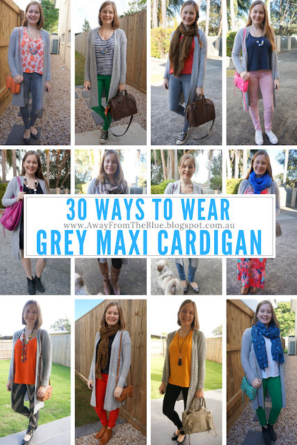 30 Ways To Wear: Grey Wool Maxi Cardigan Awayfromtheblue blog