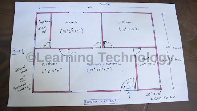 20 X 25 feet House Plan | 500 square feet House Plan | 20 फ़ीट X 25 फ़ीट घर का नक्सा | Ghar Ka Naksha