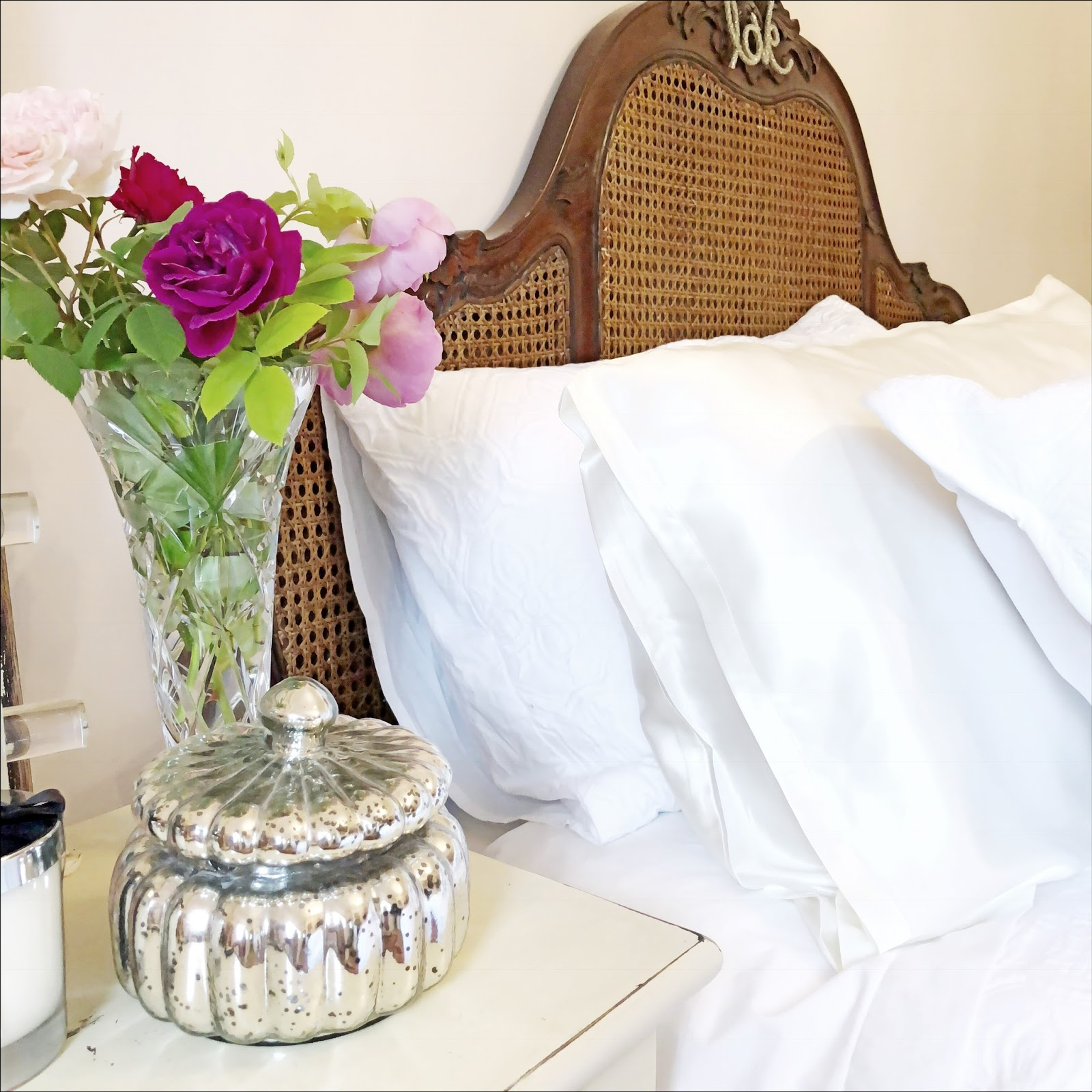 my midlife fashion, jasmine silk ivory housewife silk pillowcase