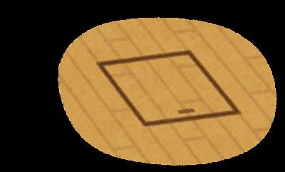 床下収納のイラスト(閉じた状態)