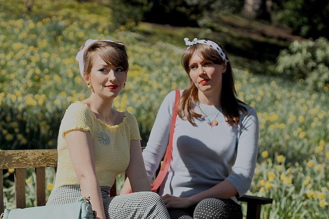 CiCi and Porcelina and tonnes of daffodils