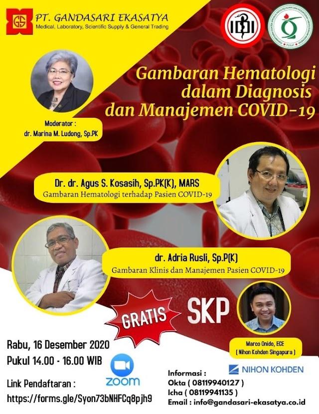 Webinar Gambaran Hematologi dalam Diagnosis dan Manajemen COVID-19