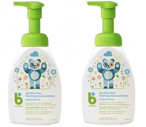 5- Babyganics Alcohol-Free Foaming Hand Sanitizer