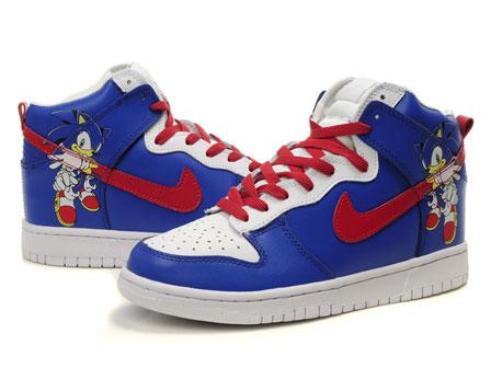 Sonic the Hedgehog Nike Dunks Custom Cartoon Shoes: 2012