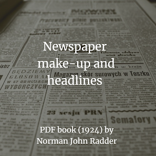 Newspaper make-up and headlines