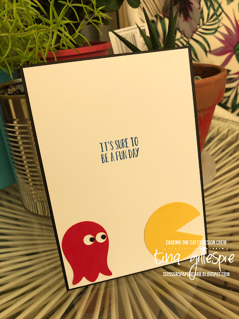 scissorspapercard, Stampin' Up!, CASEing The Catty, Label Me Bold, Itty Bitty Birthdays, Tulip Builder Punch, Punch Art