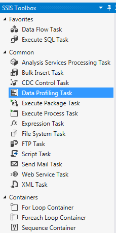 Working with Data Profile Task in SSIS (SQL Server