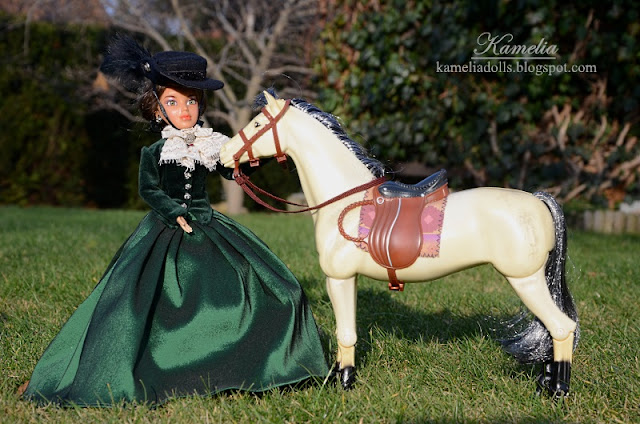 Riding outfit for Liv doll inspired by 19th century fashion.