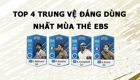 FIFA ONLINE 4 | Top 4 trung vệ đáng dùng nhất mùa thẻ EBS