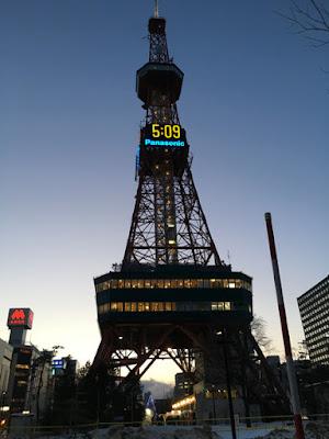 夕暮れの札幌テレビ塔