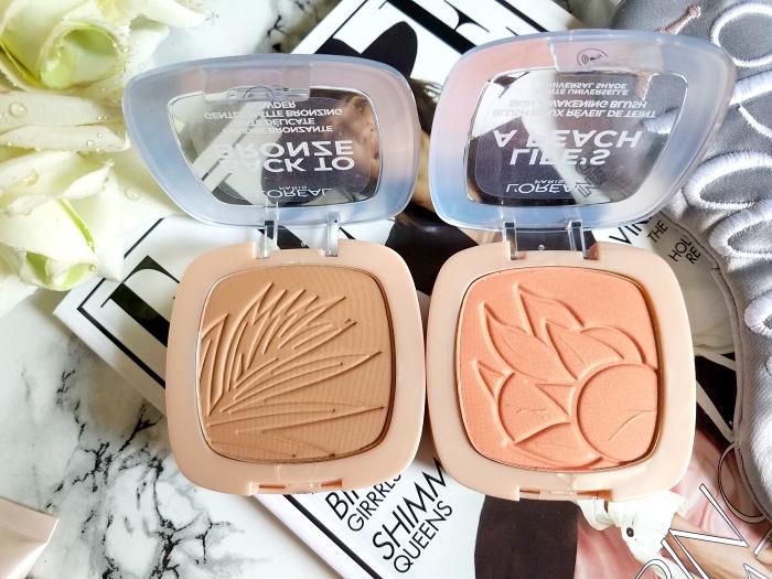 L´Oréal Paris Back to Bronze Gentle Matte Bronzing Powder & Life´s a Peach Skin Awakening Blush  Review