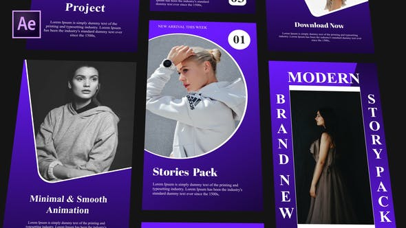 Instagram Stories Pack v4 | Free After effects templates