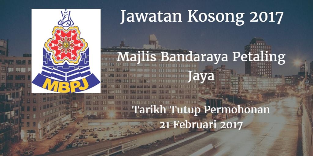 Jawatan Kosong MBPJ 21 Februari 2017