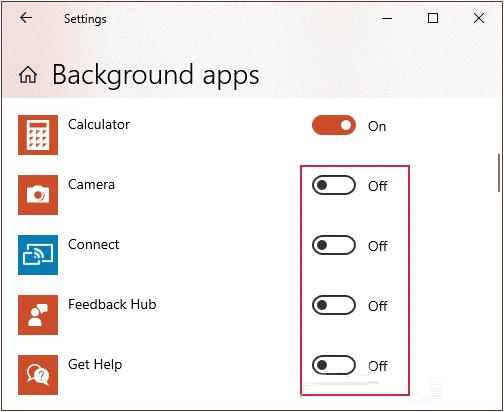 Tắt ứng dụng máy tính Win 10 từ trình cài đặt Settings