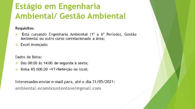 ESTÁGIO EM ENGENHARIA AMBIENTAL/GESTÃO AMBIENTAL