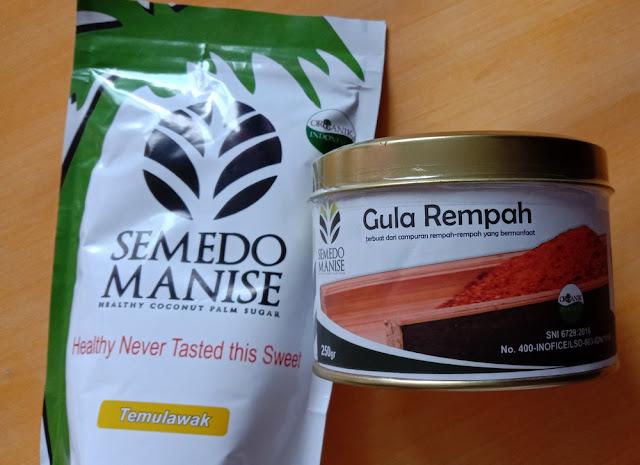 Gula semut organik rasa temulawak dan rempah
