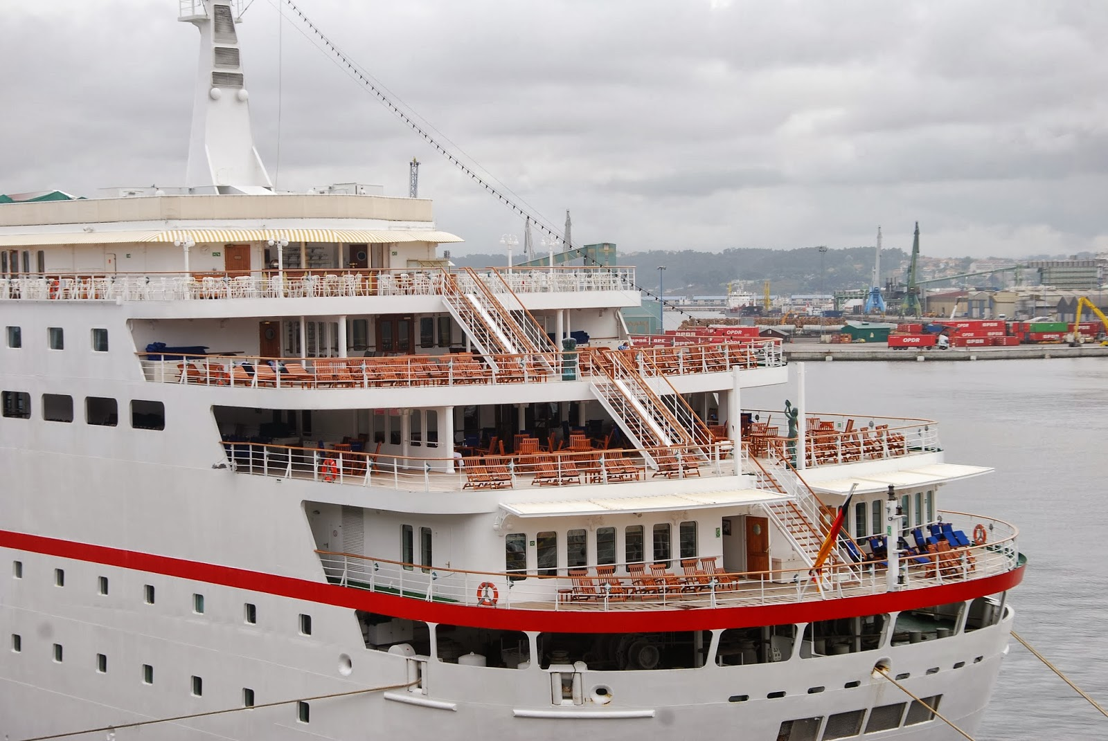 """German Registered Cruise Ship """"DEUTSCHLAND"""" in Iberian Ports"""