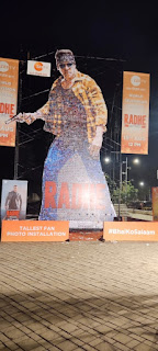 Zee TV created a World Record for the Tallest Fan Photo Installation of Radhe