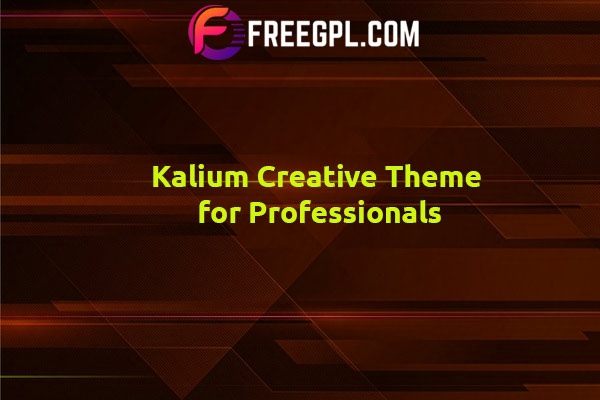 Kalium - Creative Theme for Professionals Nulled Download Free