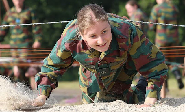 Crown Princess Elisabeth attended a tactical military exercise of the Royal Military Academy at the Lagland camp