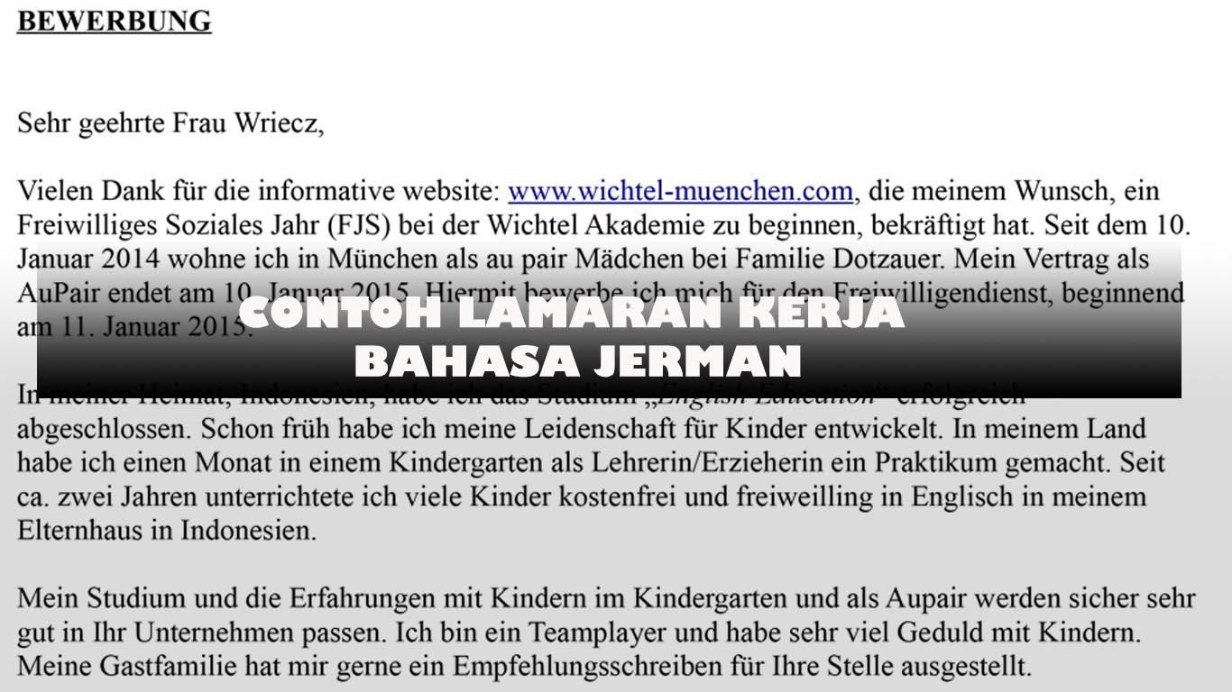 Contoh Lamaran Kerja Daftar Riwayat Hidup Dan Motivation Letter Dalam Bahasa Jerman Dan Inggris German Culture Blog