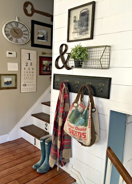 Gallery wall ideas with wall planking, shiplap, - www.goldenboysandme.com