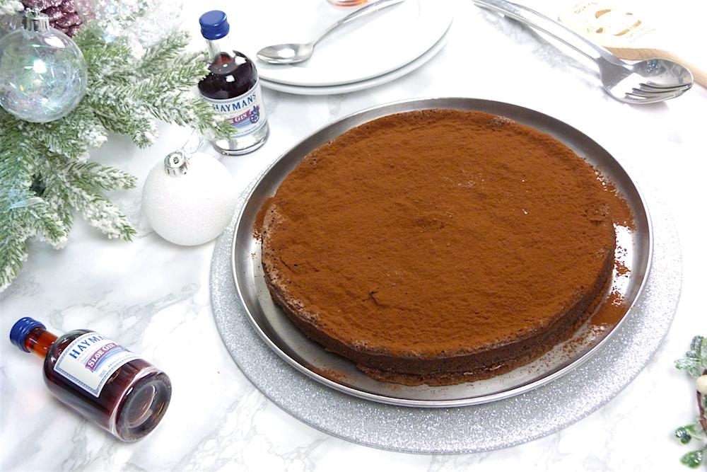an image of Sunken Chocolate and Sloe Gin Cake Recipe
