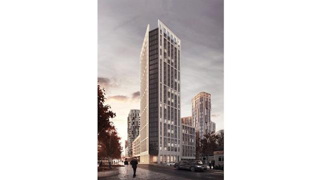 Apex House, en Wembley, el que será pronto el edificio modular más alto de Europa