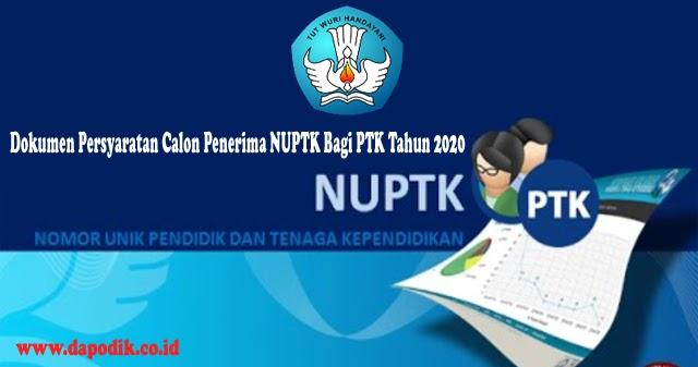 Dokumen Persyaratan Calon Penerima NUPTK Bagi PTK Tahun ...