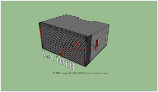 Skema Box Line Array 10 inch Model LA101B Mid Lantang