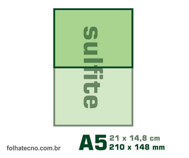 medidas do papel A5