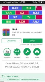 Gambar 4.14 Download rar.apk di playstore
