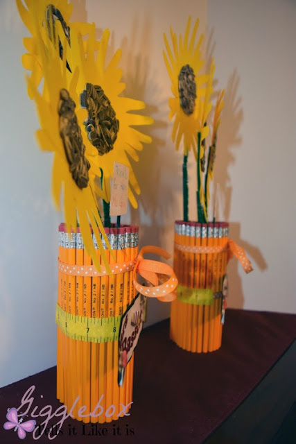 pencil vases, simple easy and cheap pencil vases, teacher gift ideas,