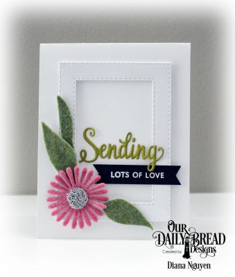 Our Daily Bread Designs, Sending My Love Stamp Die Duo