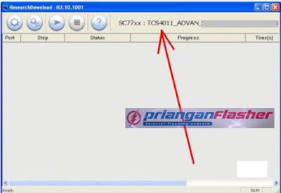 muncul keterangan file firmware advan s4f
