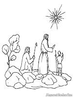 Mewarnai Gambar Natal Lembar Anak Pohon Kisah Alkitab Keluarga Kristen