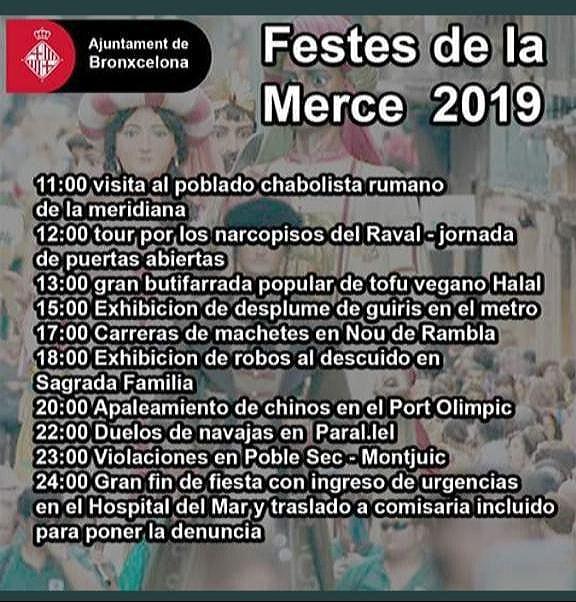 Barcelona, festes de la Mercè, 2019, Merced, Mercedes, Merceditas, Mercé