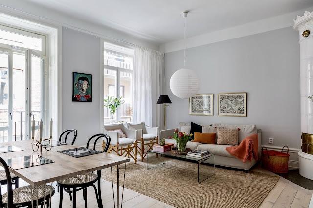 O atingere de eleganță în amenajarea scandinavă a unui apartament de 59 m²
