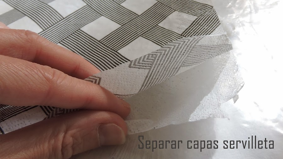 Separar capas servilleta