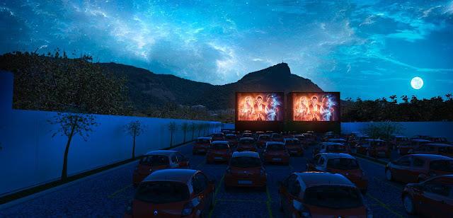 Blog Apaixonados por Viagens - Rio de Janeiro -  Cinema Drive-In Lagoa