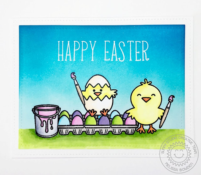 Sunny Studio: A Good Egg Easter Card by Melissa Bowden.