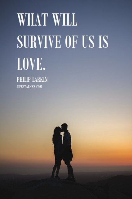 What will survive of us is love - Philip Larkin