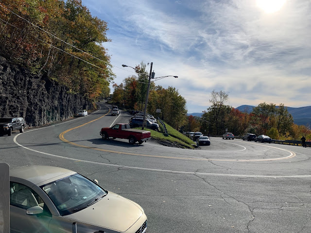 Hairpin turn along Mohawk Trail