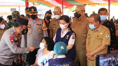 Kapolda Sumut Kunjungi Samosir, Pastikan Pelaksanaan Vaksinasi Berjalan Baik
