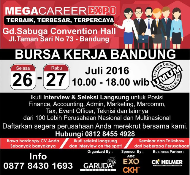 Job Fair Bandung Mega Career Expo Sabuga Convention Hall