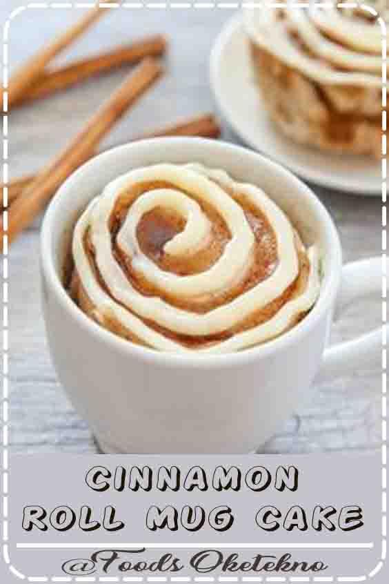 4.1 ★★★★★  This single serving microwave cinnamon roll mug cake has cinnamon swirls mixed throughout a fluffy cinnamon flavored cake. Its cinnamon roll meets cake in an easy mug cake form. #Cinnamon Roll Mug Cake #Dessert #Recipes Easy #4 Ingredients #Cinnamon Rolls